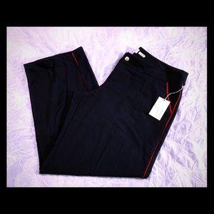 A New Day Pants/Slacks 18 R Dark Blue Red Stripe